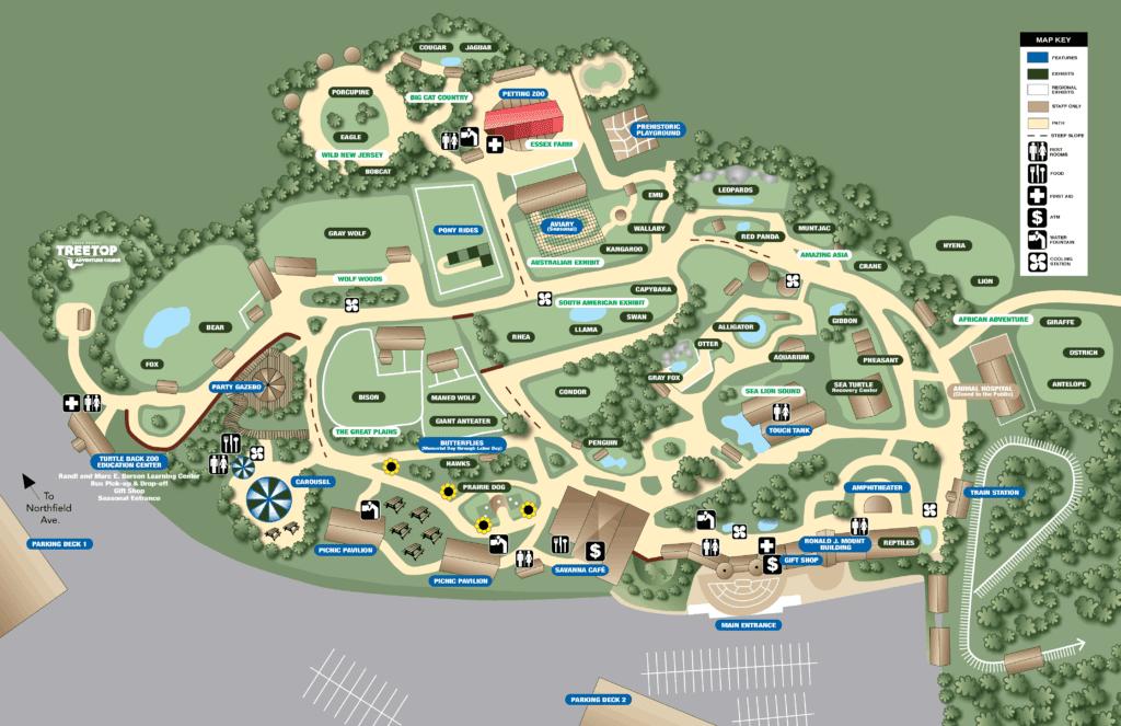 Zoo Map Turtle Back Zoo