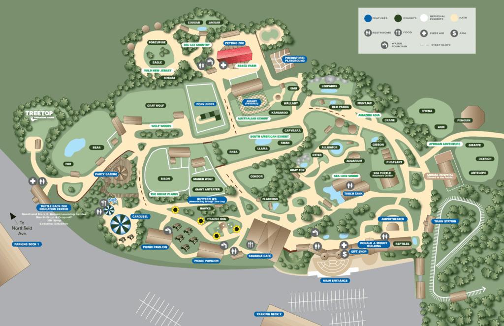 Zoo Map | Turtle Back Zoo